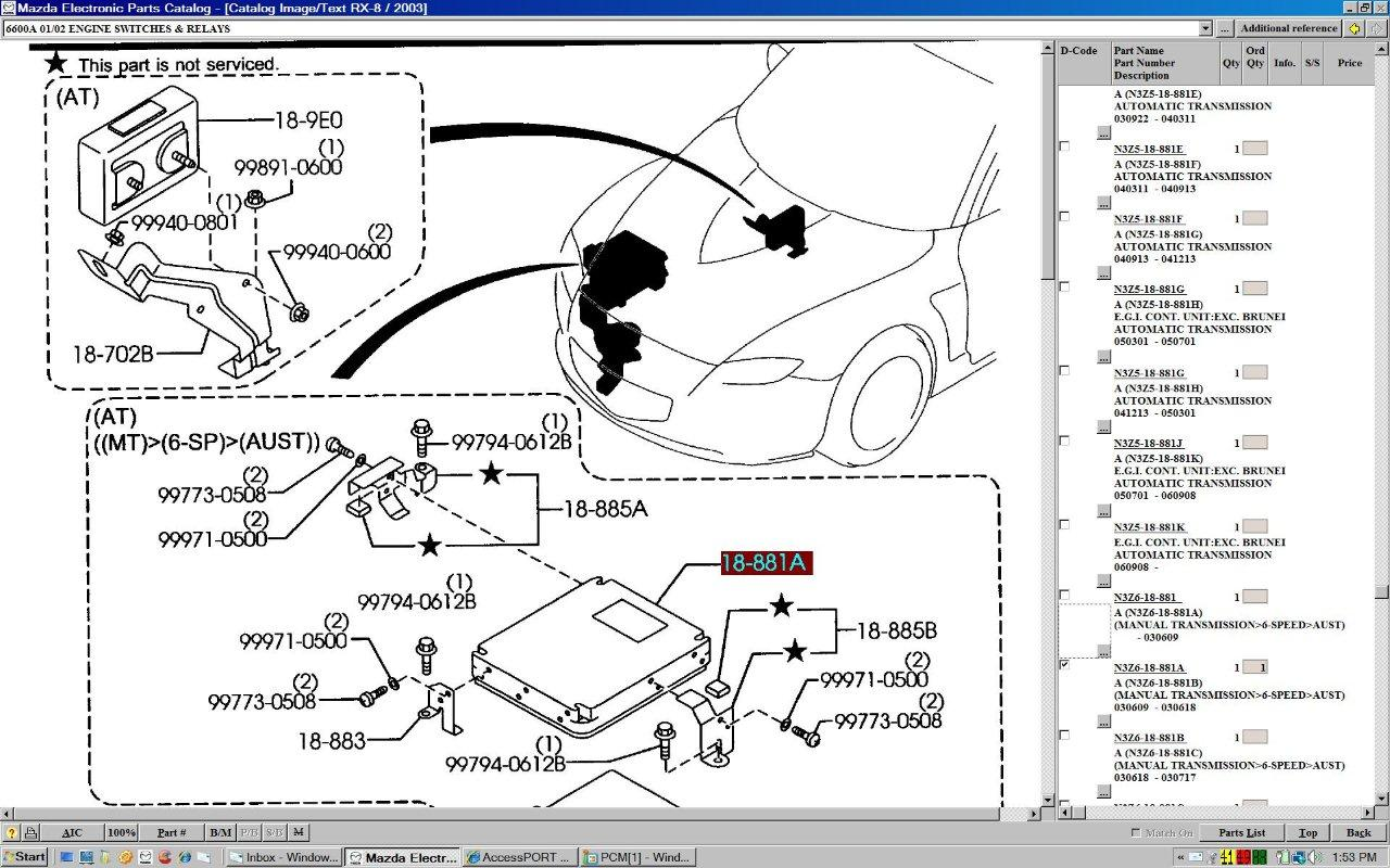 Mazda Rx8 Fuel Pump
